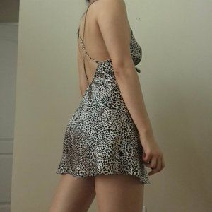 100% Silk Leopard Print Victoria's Secret Dress